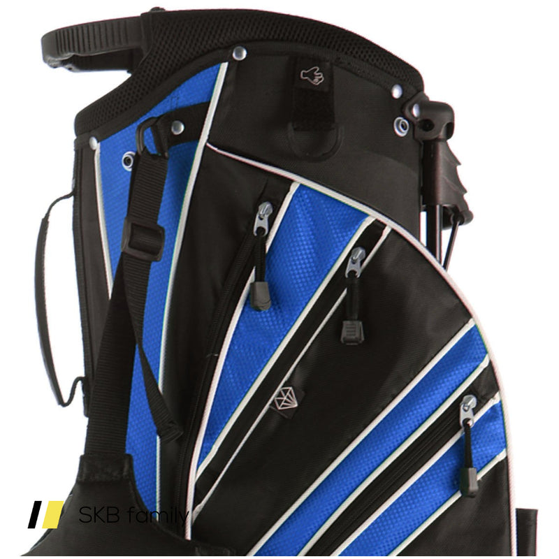 Golf Stand Cart Bag With 6-Way Divider Carry Pockets 200815-23045