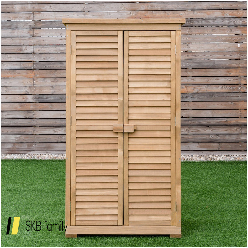 "63"" Tall Wooden Garden Storage Shed In Shutter Design 200815-23058"