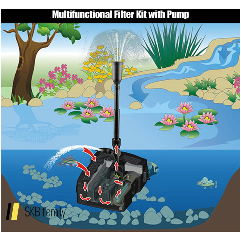 All-In One 660 Gph Pond Filter 9w Uv Sterilizer With Pump Fountain Kits 200815-23067