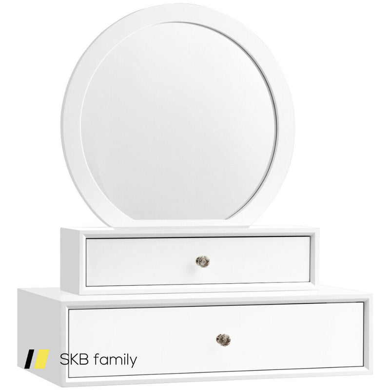 Makeup Dressing Wall Mounted Vanity Mirror With 2 Drawer 200815-23069