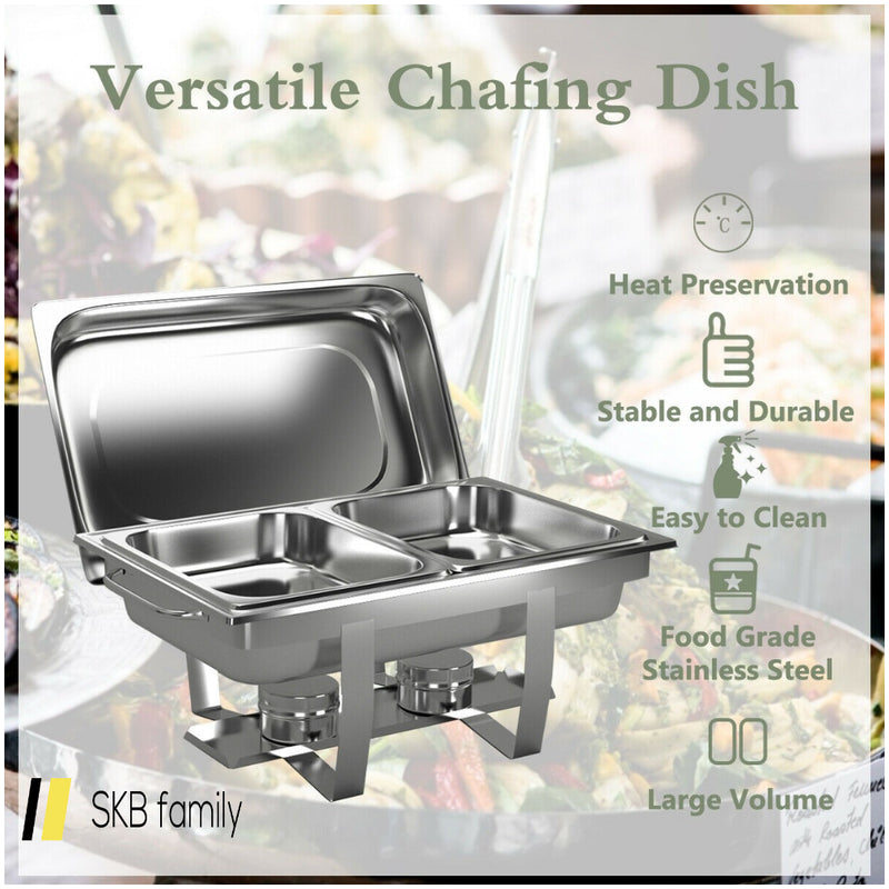 2 Packs Stainless Steel Full Size Chafing Dish 200815-23081