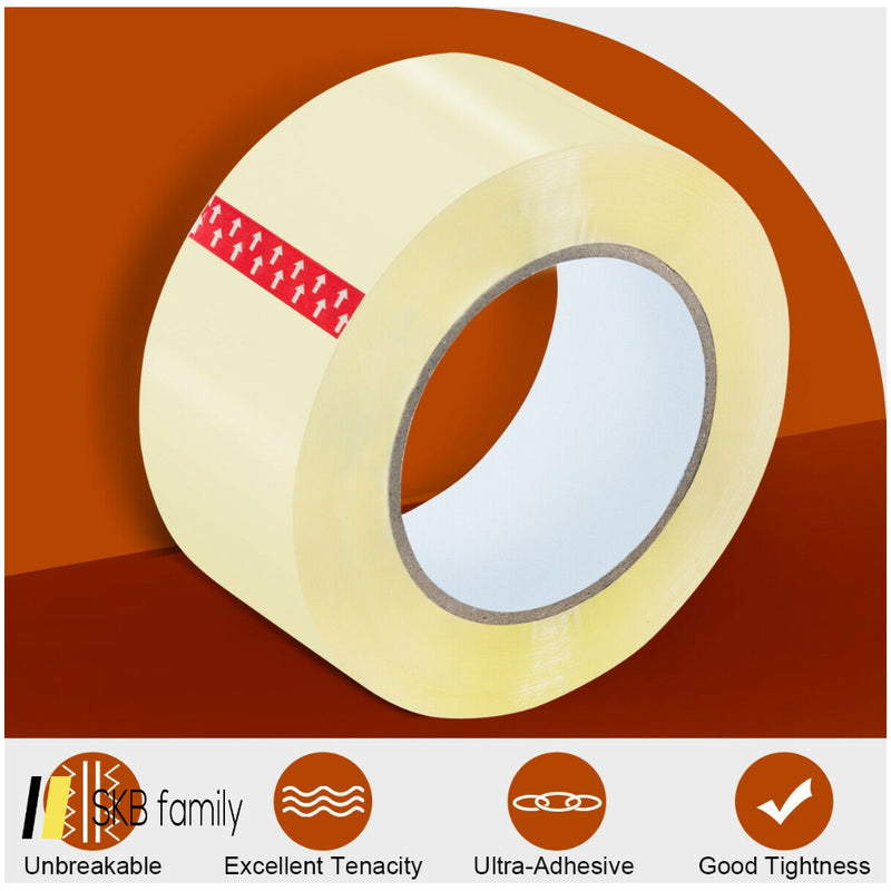 "72 Rolls Clear Carton Box Packing Package Tape 1.9"" X 110 Yards 200815-23100"