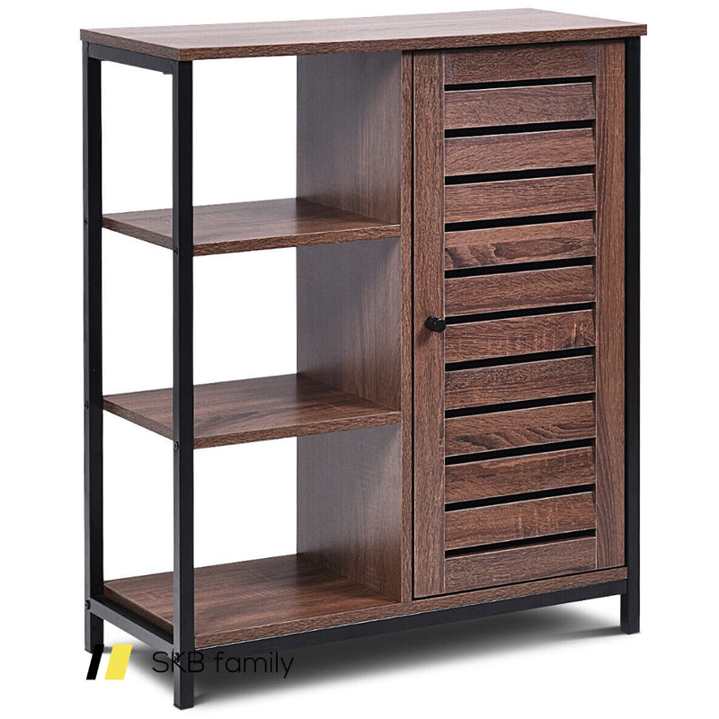 Industrial Bathroom Storage Free Standing Cabinet With 3 Shelves 200815-23105