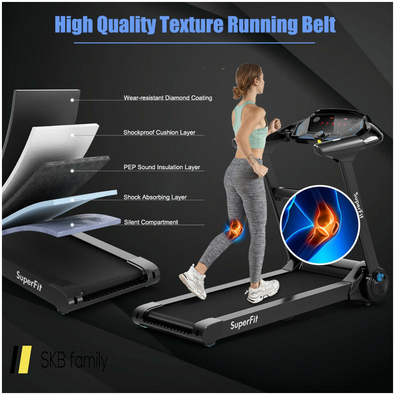2.25hp Folding Running Treadmill W/ Led Touch Display 200815-23107