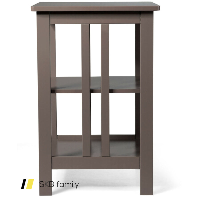 3-Tier Nightstand Side Table With Baffles And Corners 200815-23117