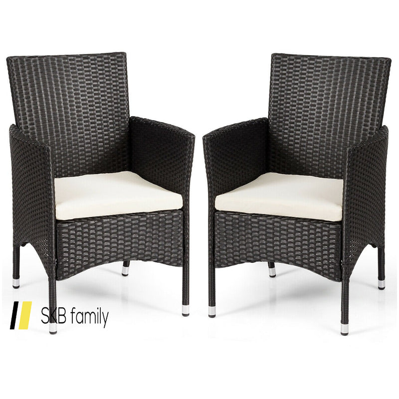 2 Pcs Dining Chairs Set With 2 Cushion Covers 200815-23120