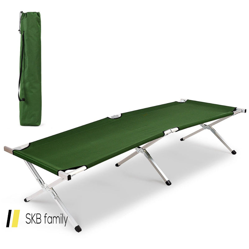 Outdoor Hiking Portable Aluminum Folding Camping Bed With Bag 200815-23140