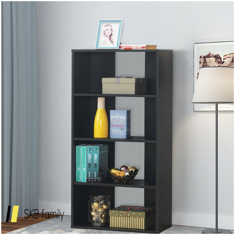 4-Tier Bookcase One Fixed And Three Adjustable Shelves 200815-23145
