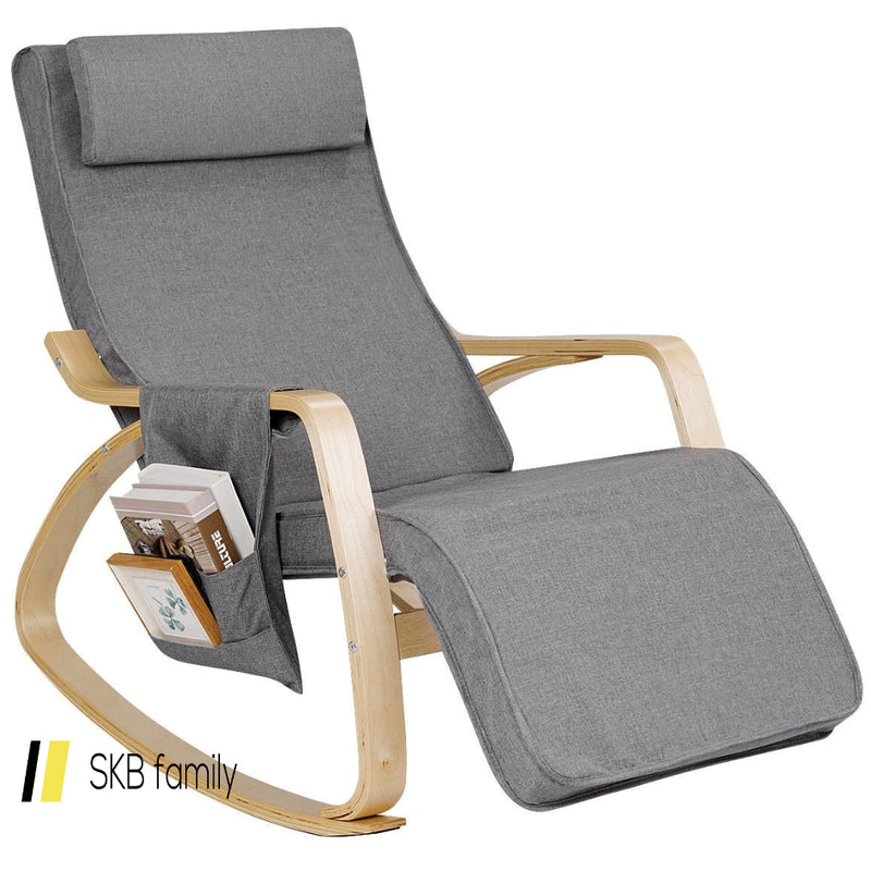 Relax Adjustable Lounge Rocking Chair With Pillow & Pocket 200815-23203