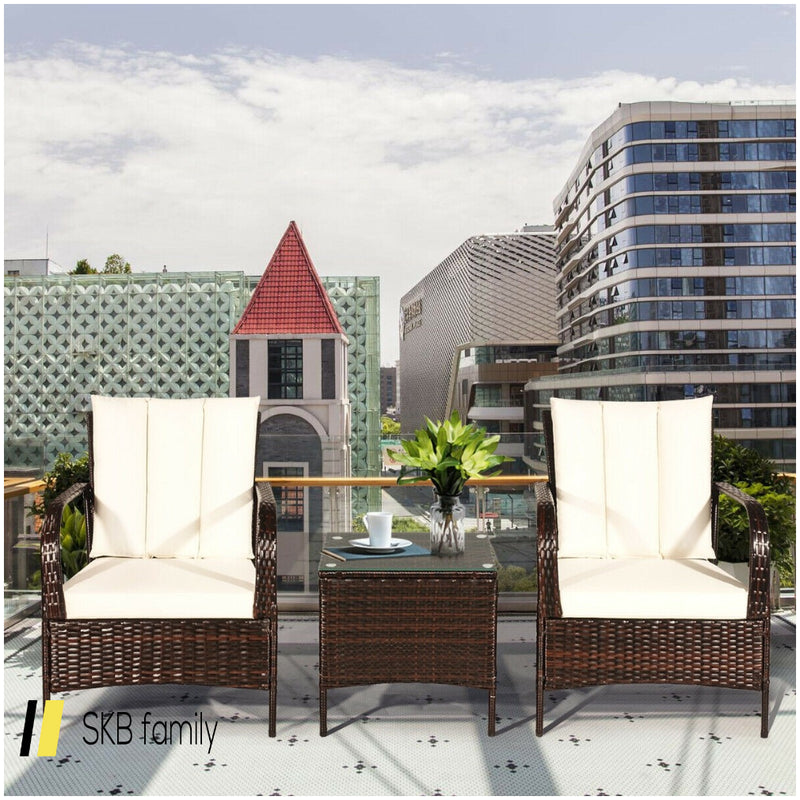 3 Pcs Patio Rattan Furniture Set 200815-23205