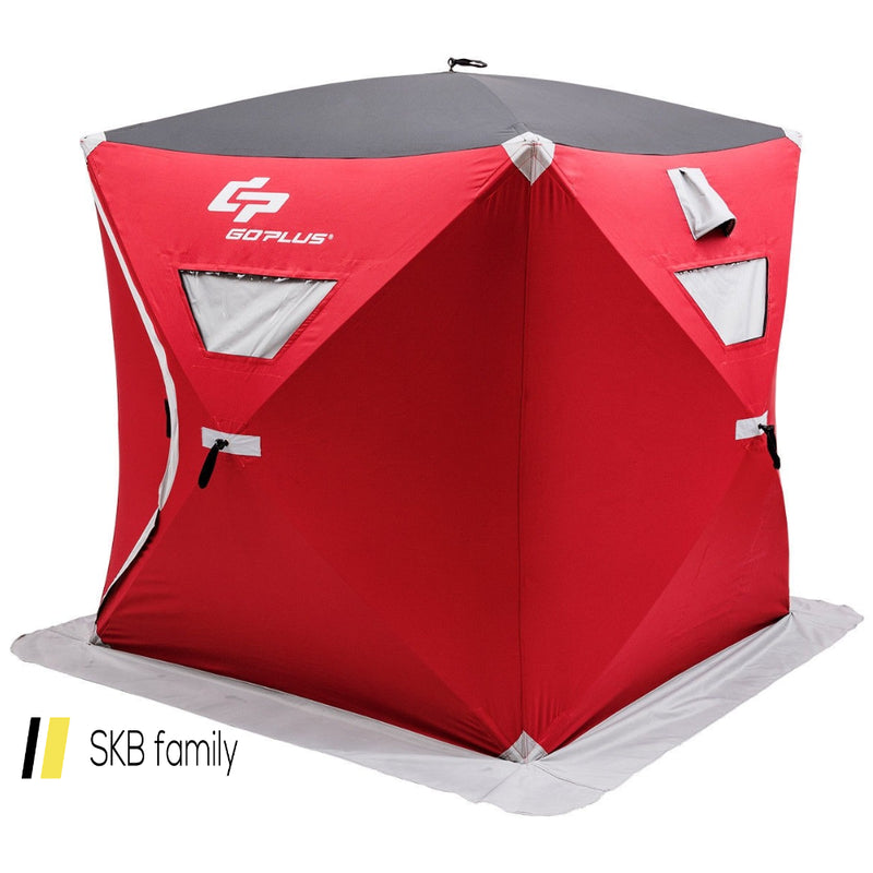 3-Person Portable Pop-Up Ice Shelter Fishing Tent With Bag 200815-23253