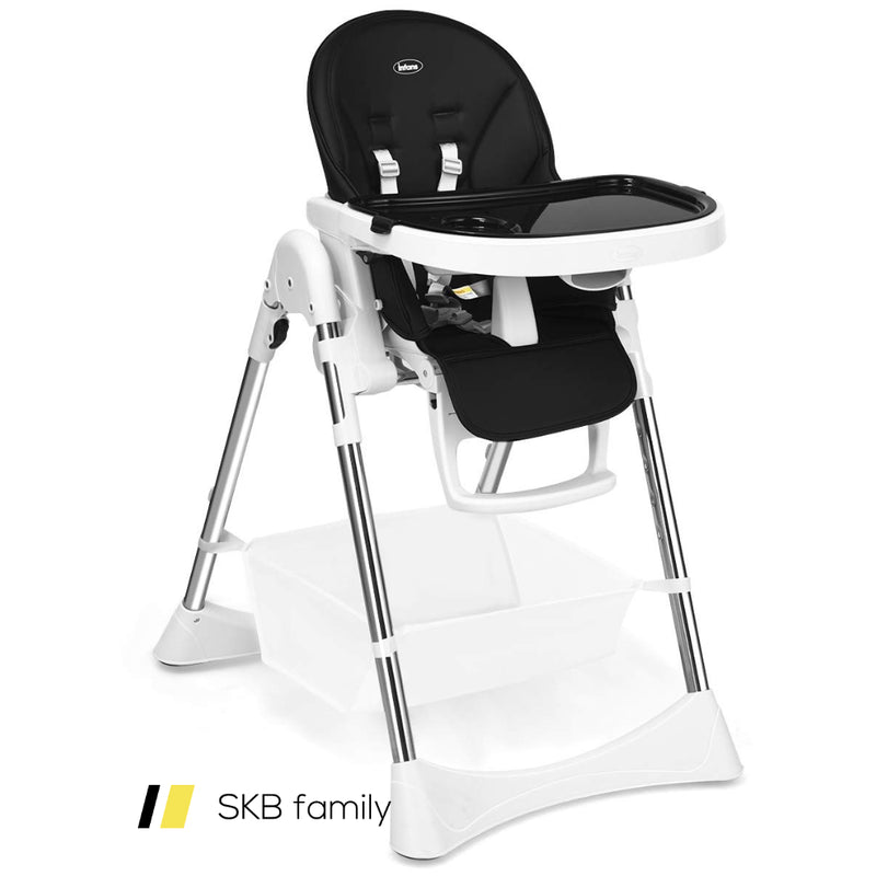 Foldable High Chair With Large Storage Basket 200815-23260