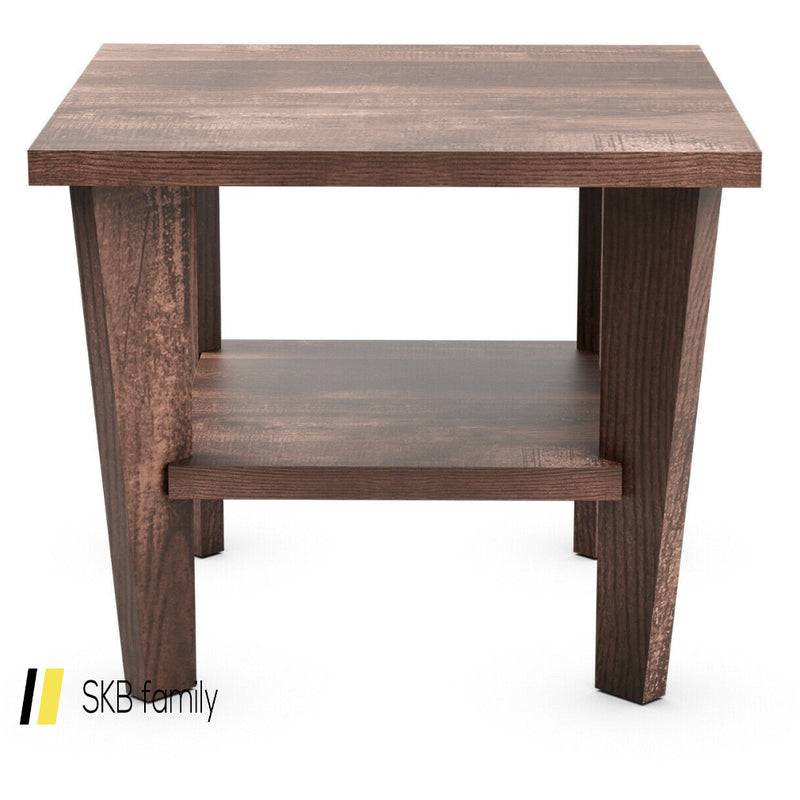 2-Tier Nightstand Space-Saving Side Sofa End Table 200815-23274