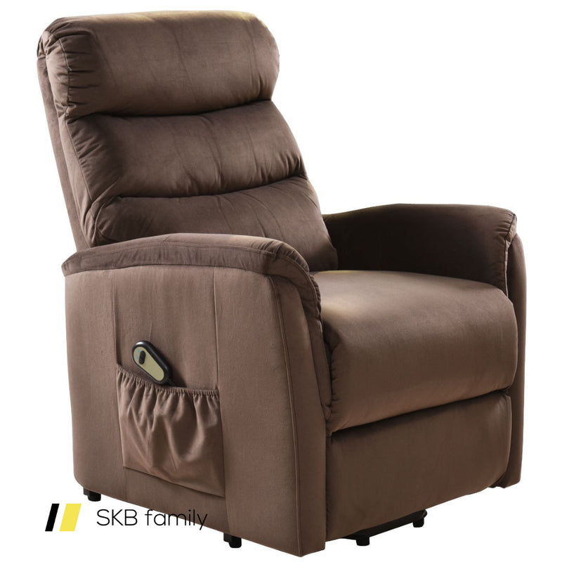 Electric Fabric Lift Chair Recliner And Footrest /W Remote Control 200815-23286