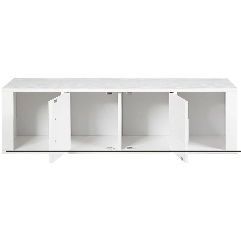 Wall Mounted Floating 2 Door Desk Hutch Storage Shelves 200815-23311
