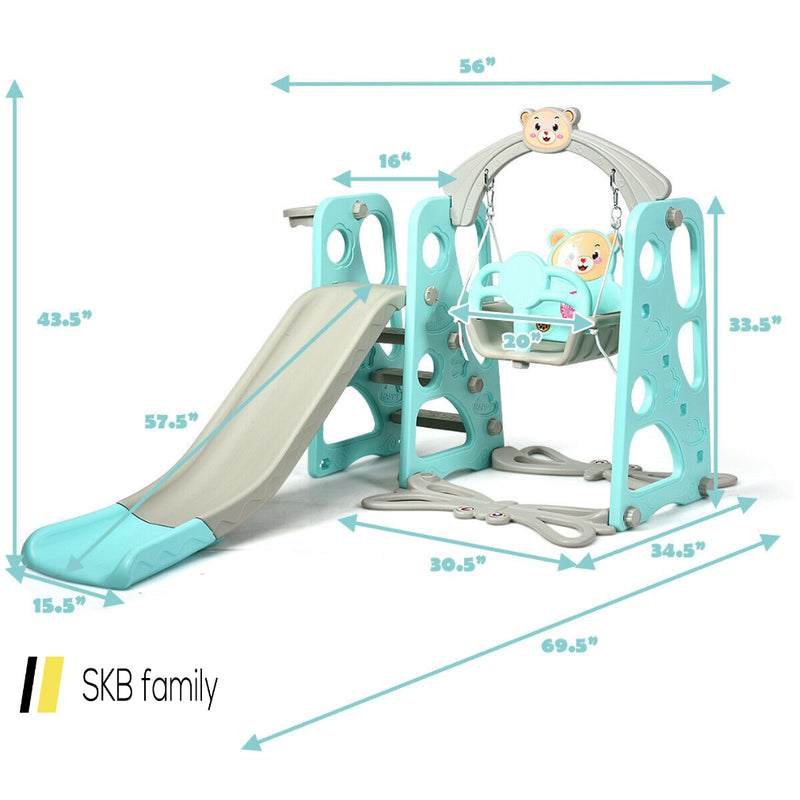 3 In 1 Toddler Climber And Swing Set Slide Playset 200815-23314