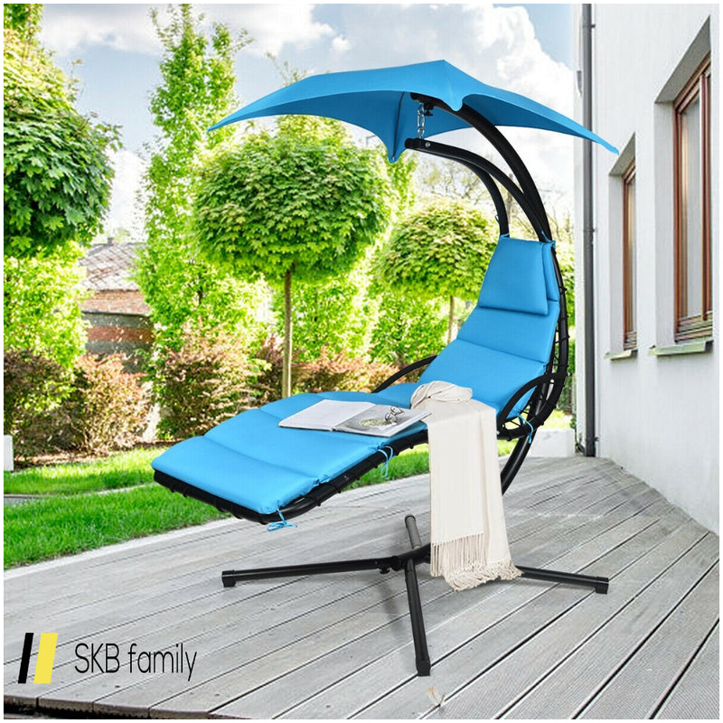 Hanging Stand Chaise Lounger Swing Chair W/ Pillow 200815-23315