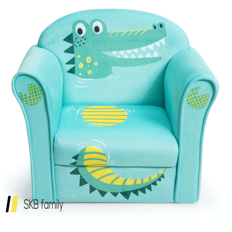 Kids Crocodile Armrest Upholstered Couch 200815-23331
