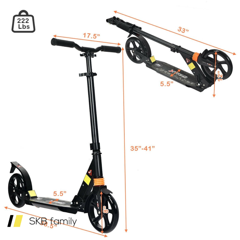 Folding Aluminium Adjustable Kick Scooter With Shoulder Strap 200815-23332