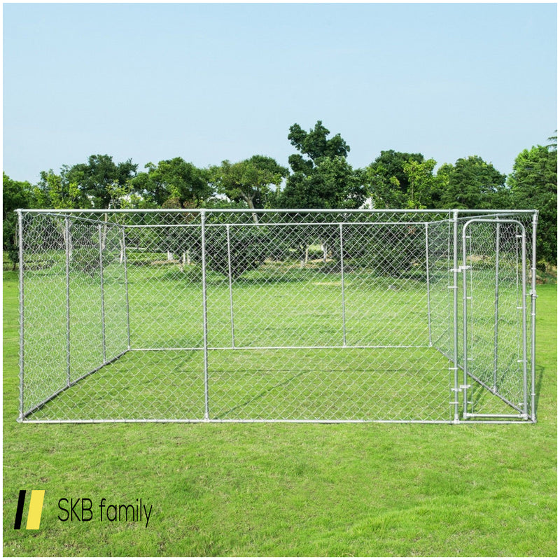 15' X 15' Large Pet Dog Run House Kennel Shade Cage 200815-23358