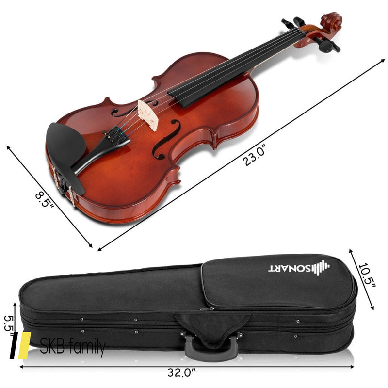 Full Size 4/4 Solid Wood Student Starter Violin 200815-23359