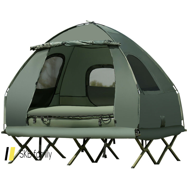2-Person Compact Portable Pop-Up Tent Air Mattress And Sleeping Bag 200815-23361