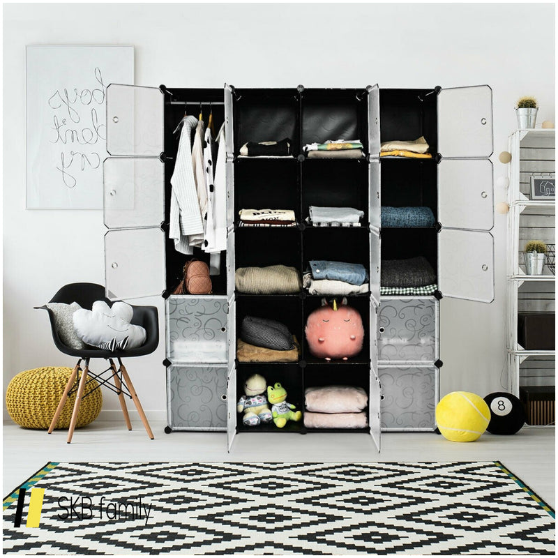 Diy 20 Cube Portable Storage Organizer Wardrobe 200815-23372