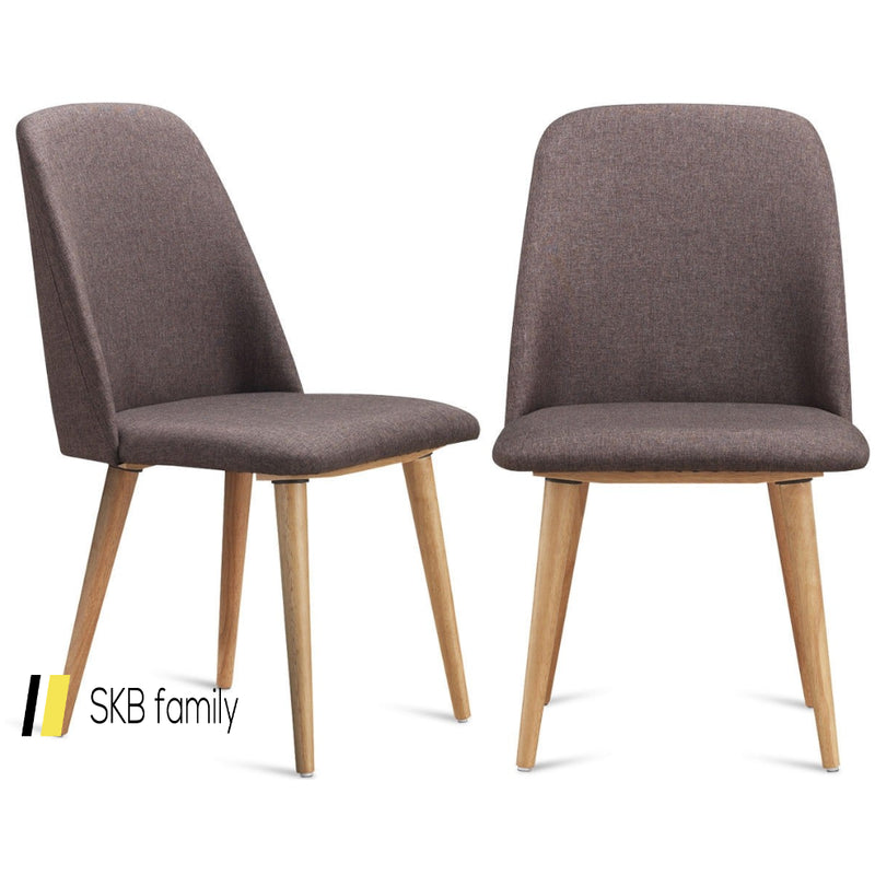 Set Of 2 Leisure Accent Armless Upholstered Dining Chairs 200815-23378