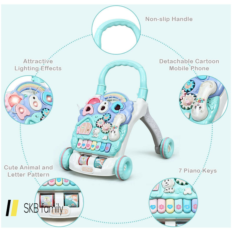 Baby Sit-To-Stand Learning Walker Toddler Musical Toy 200815-23383