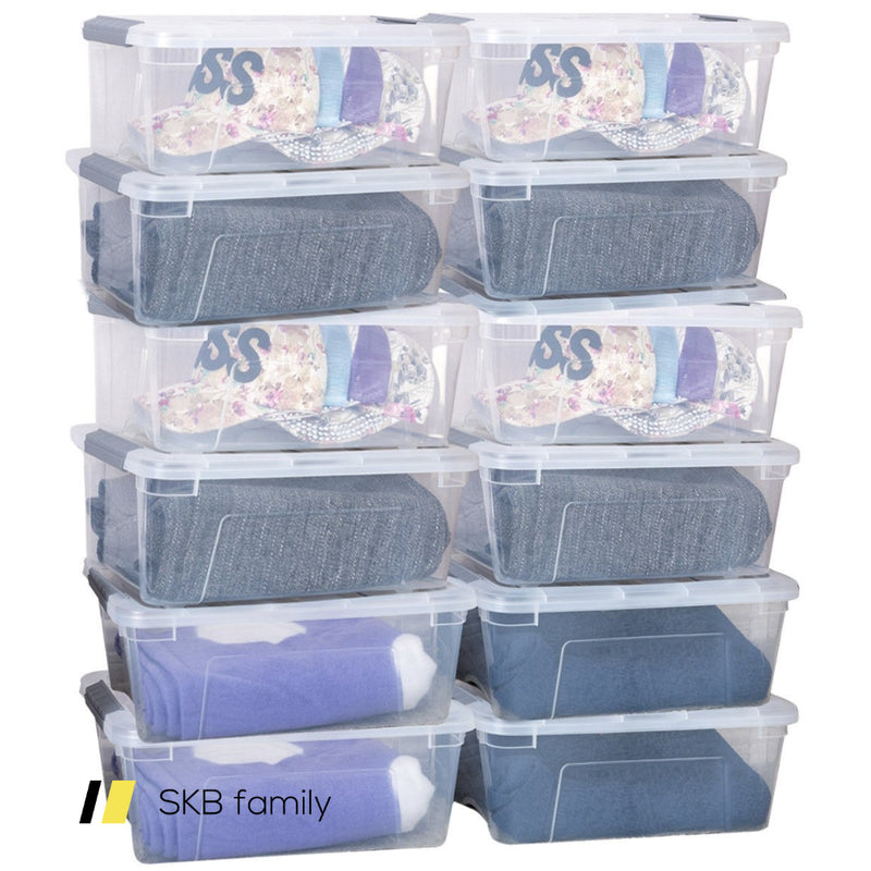 Sturdy Plastic Latch Stack Storage Tubs Box 200815-23401