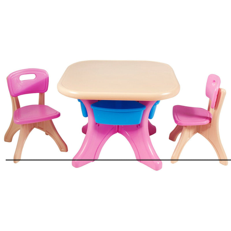 In/Outdoor 3-Piece Plastic Children Play Table & Chair Set 200815-23440