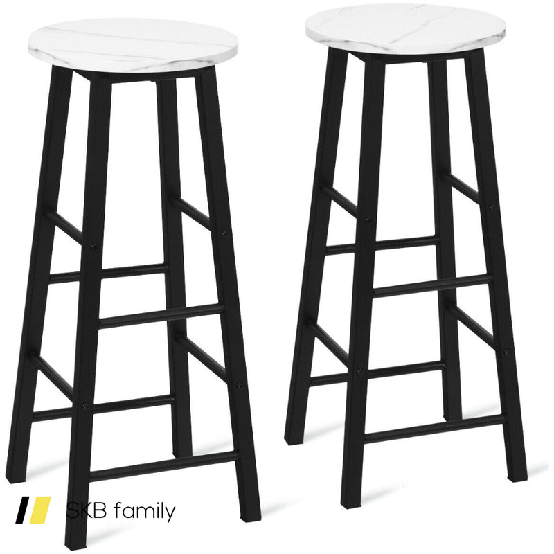 Set Of 2 Pub Bistro Dining Height Bar Stool 200815-23455