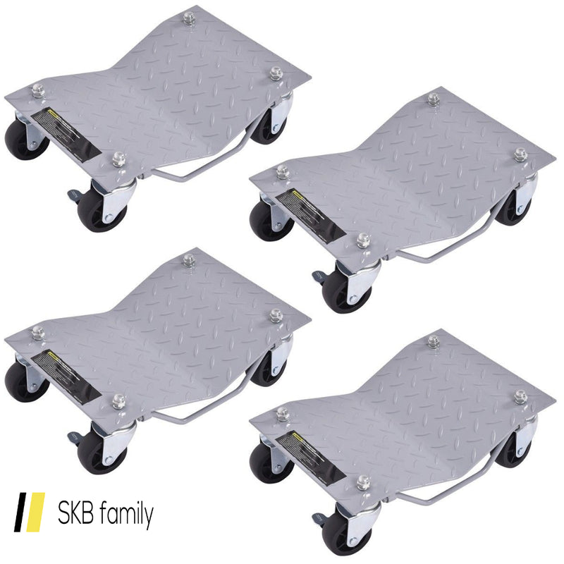 4 Pcs Vehicle Car Auto Repair Moving Tire Wheel Dolly 200815-23487