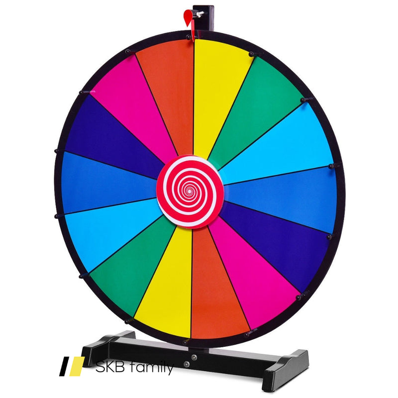 "24"" Editable 14 Slot Fortune Spinning Game Tabletop 200815-23491"
