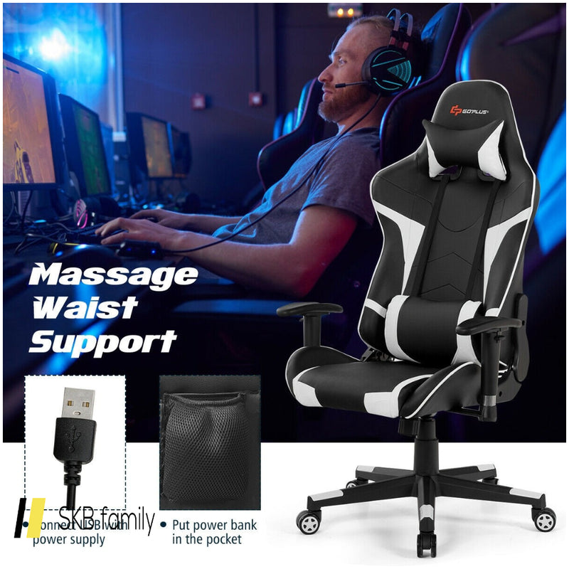 Reclining Swive Massage Gaming Chair 200815-23492