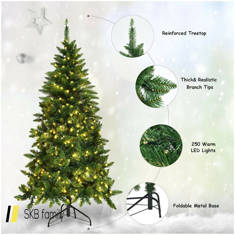 5' Prelit Artificial Half Christmas Tree With 8 Flash Modes 200815-23515