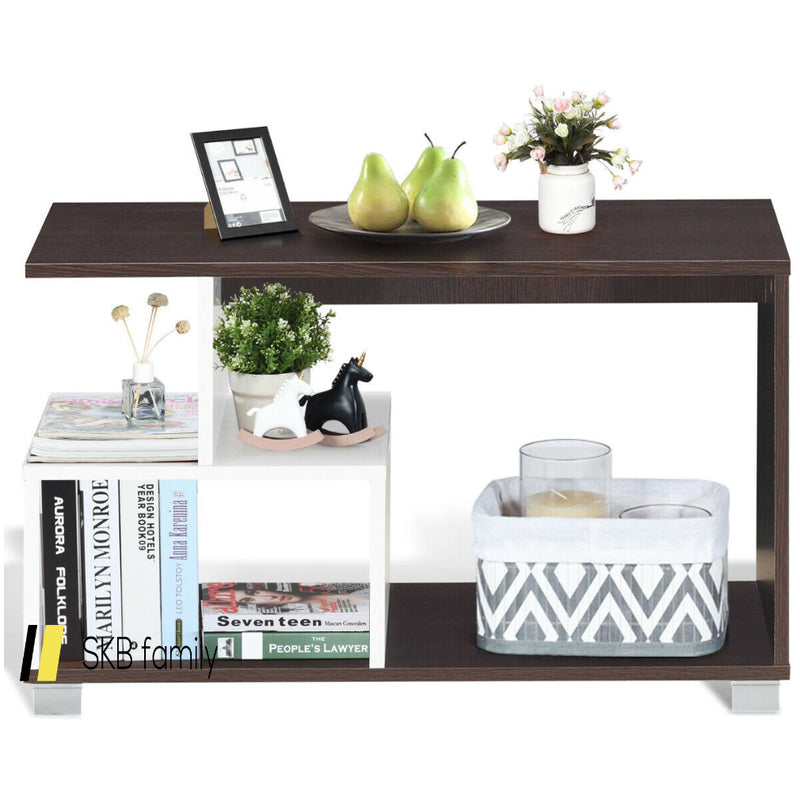 2-Tier Rectangular Modern Console Table Coffee Table 200815-23517