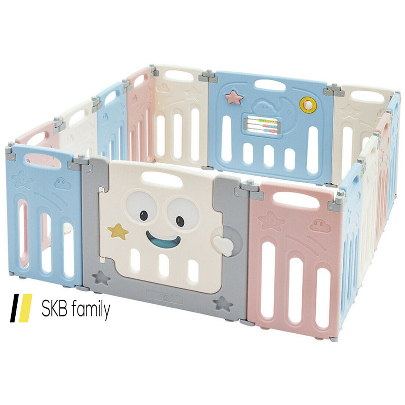 14-Panel Foldable Baby Playpen Kids Activity Centre 200815-23575