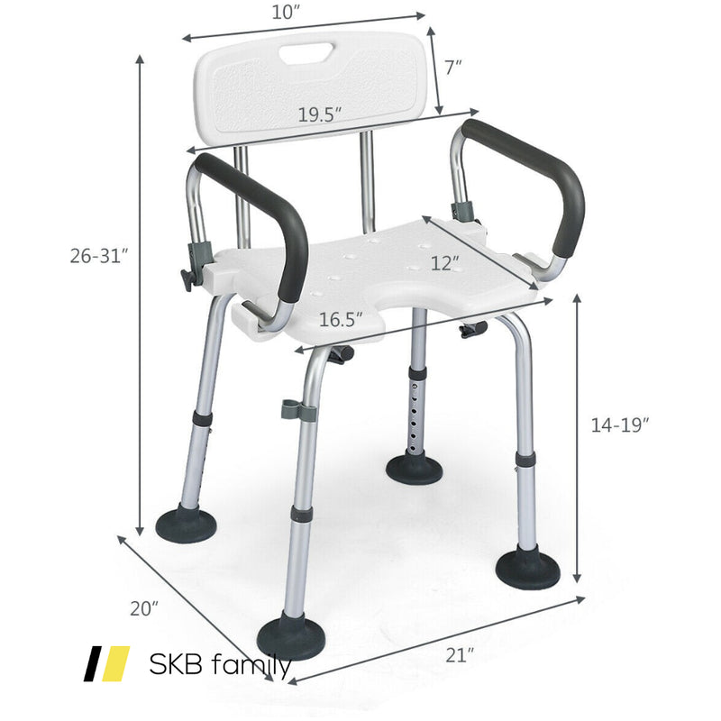 Adjustable Height U-Shaped Shower Chair 200815-23584