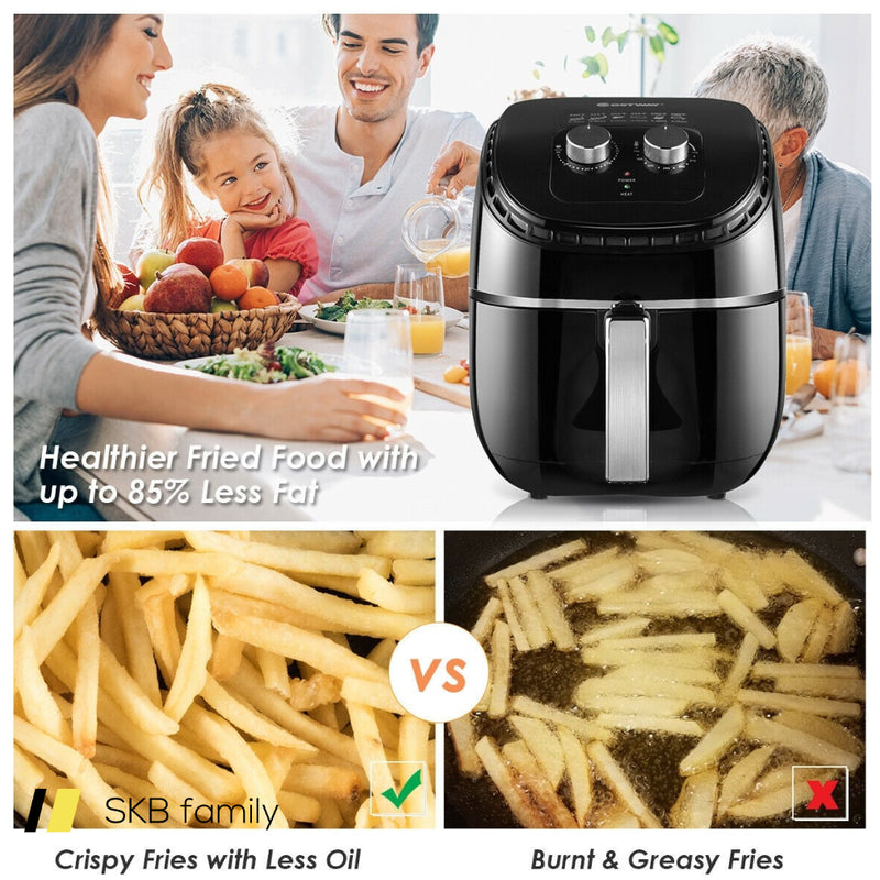 3.5 Qt Electric 1300w Hot Air Fryer With Timer& Temperature Control 200815-23627