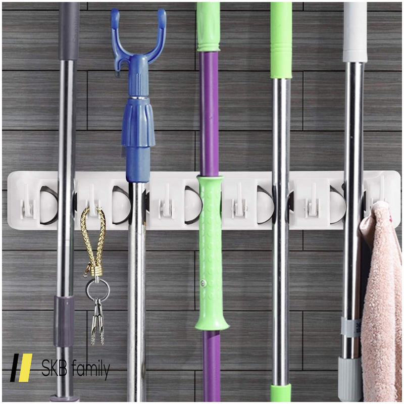 Wall-Mounted Mop Holder Hanger With 5 Positions 200815-23638
