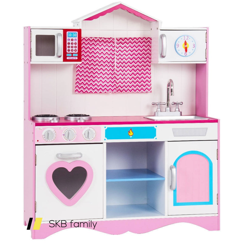 Wood Kitchen Toy Kids Cooking Pretend Play Set 200815-23642