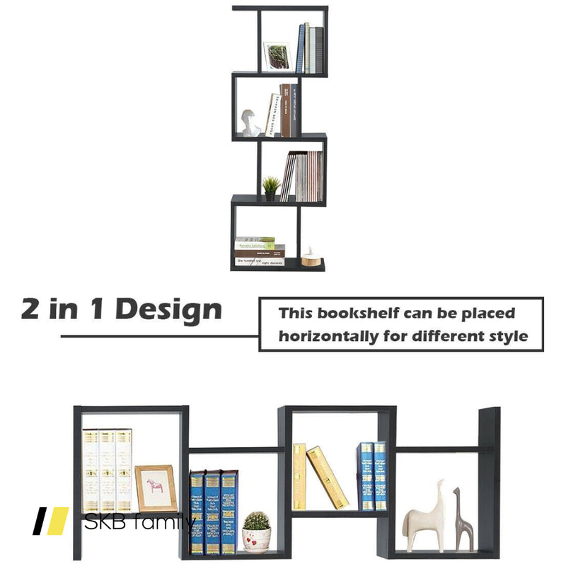 4-Tier S-Shaped Bookcase 200815-23647