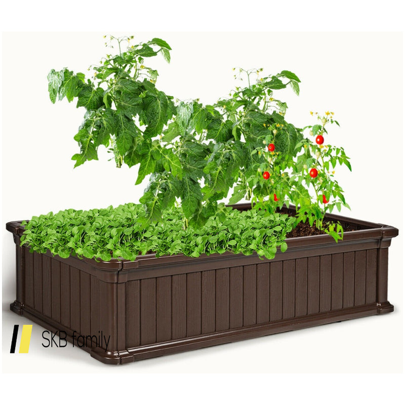 2 Pcs Raised Garden Rectangle Plant Box 200815-23655