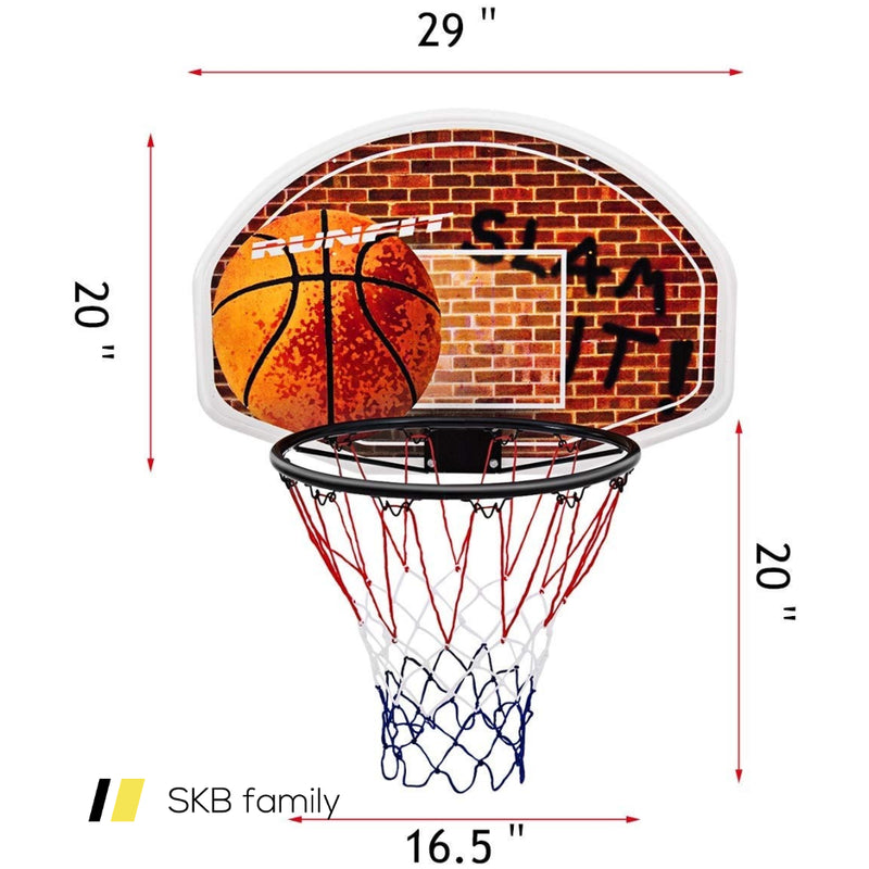 Wall Mounted Fan Backboard With Basketball Hoop And Rim 200815-23678
