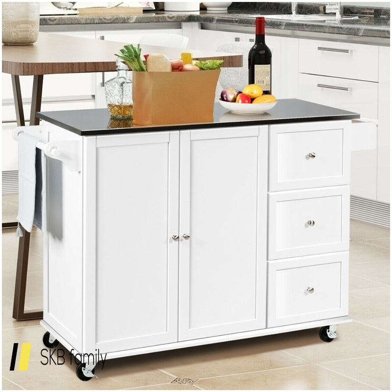 Kitchen Island 2-Door Storage Cabinet 200815-23681