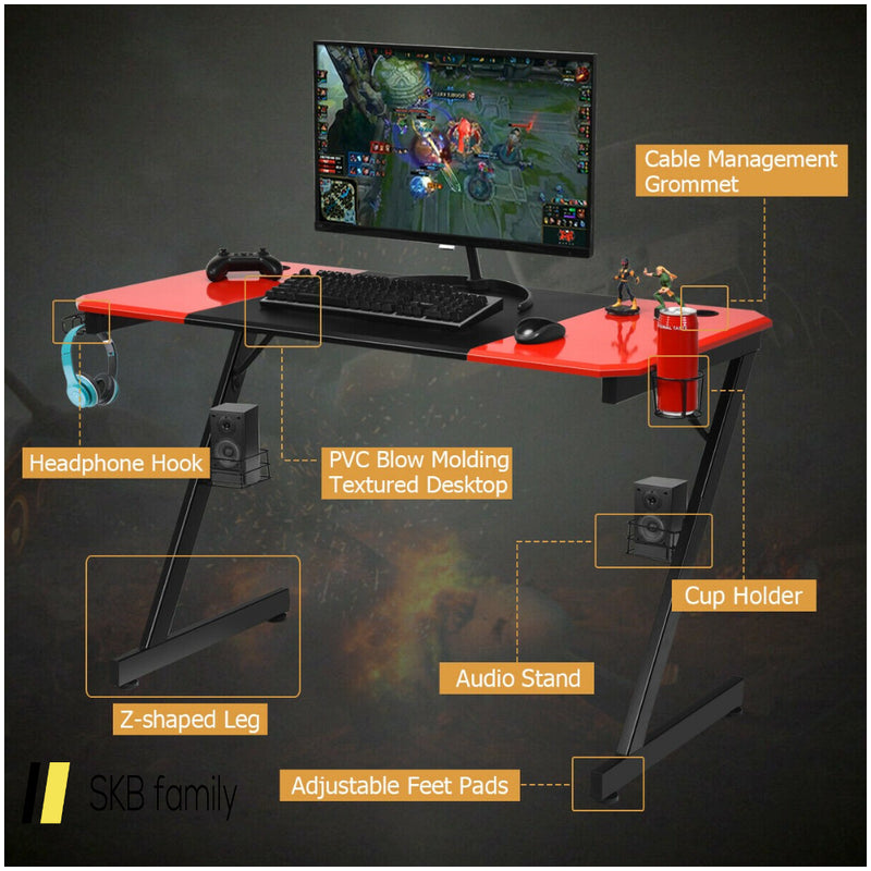 Computer Gaming Desk With Large Carbon Fiber Surface 200815-23684