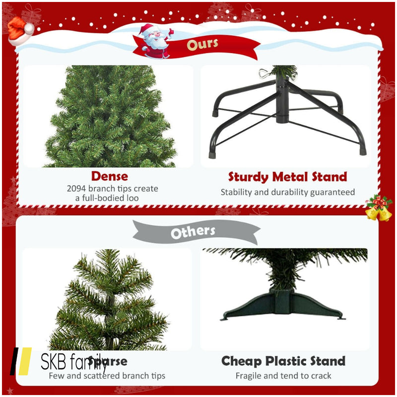 9ft Unlit Hinged Pvc Artificial Christmas Tree 200815-23694