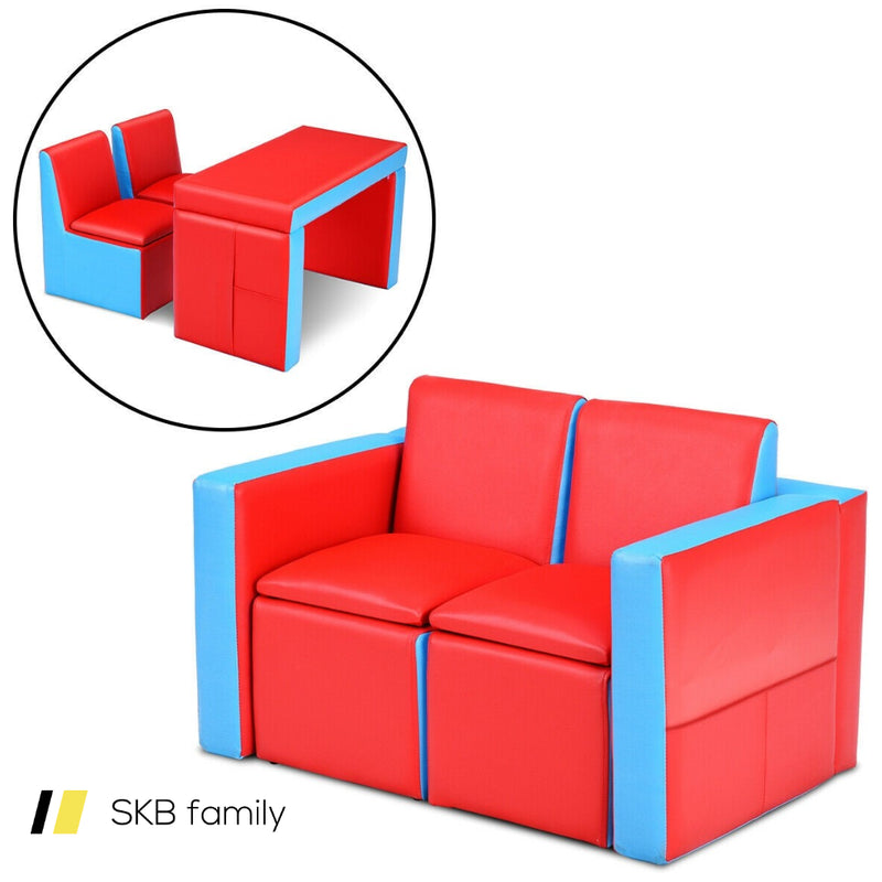 Multi-Functional Kids Sofa Table Chair Set 200815-23697