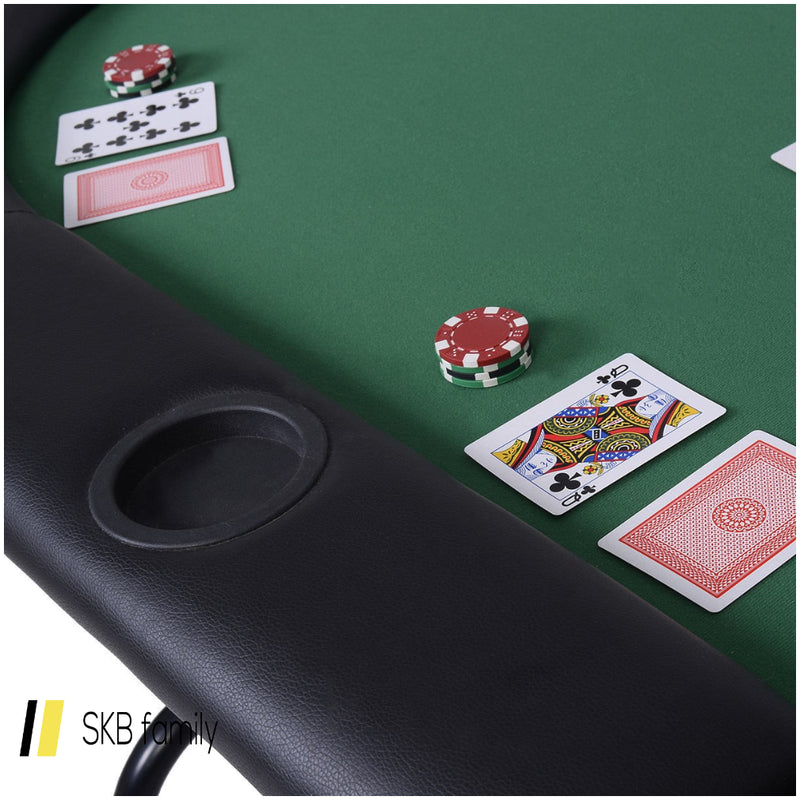 8 Players Texas Holdem Foldable Poker Table 200815-23698